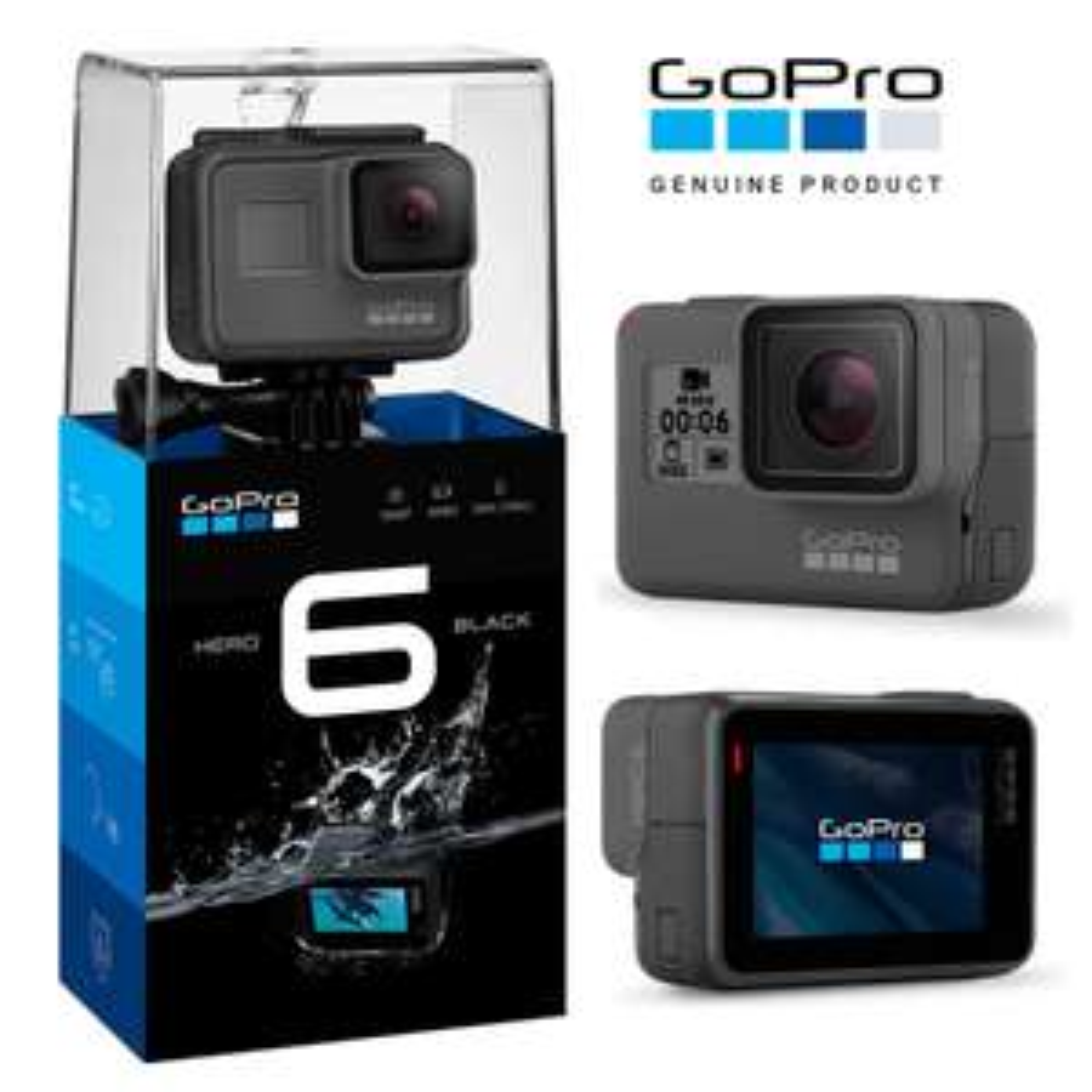 GoPro HERO6 Black 4K Ultra HD Camera £261.99 @ Tobydeals