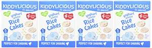 Kiddylicious Yoghurt Splashed Rice Cakes, Pack of 4, Total 16 - £2.25 Amazon Add on item.