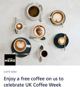 Free coffee from Café Nero ( Monday - Friday) from O2 priority