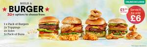 Build a burger deal inc 2 toppings, 2 sides and buns for £6 @ Iceland