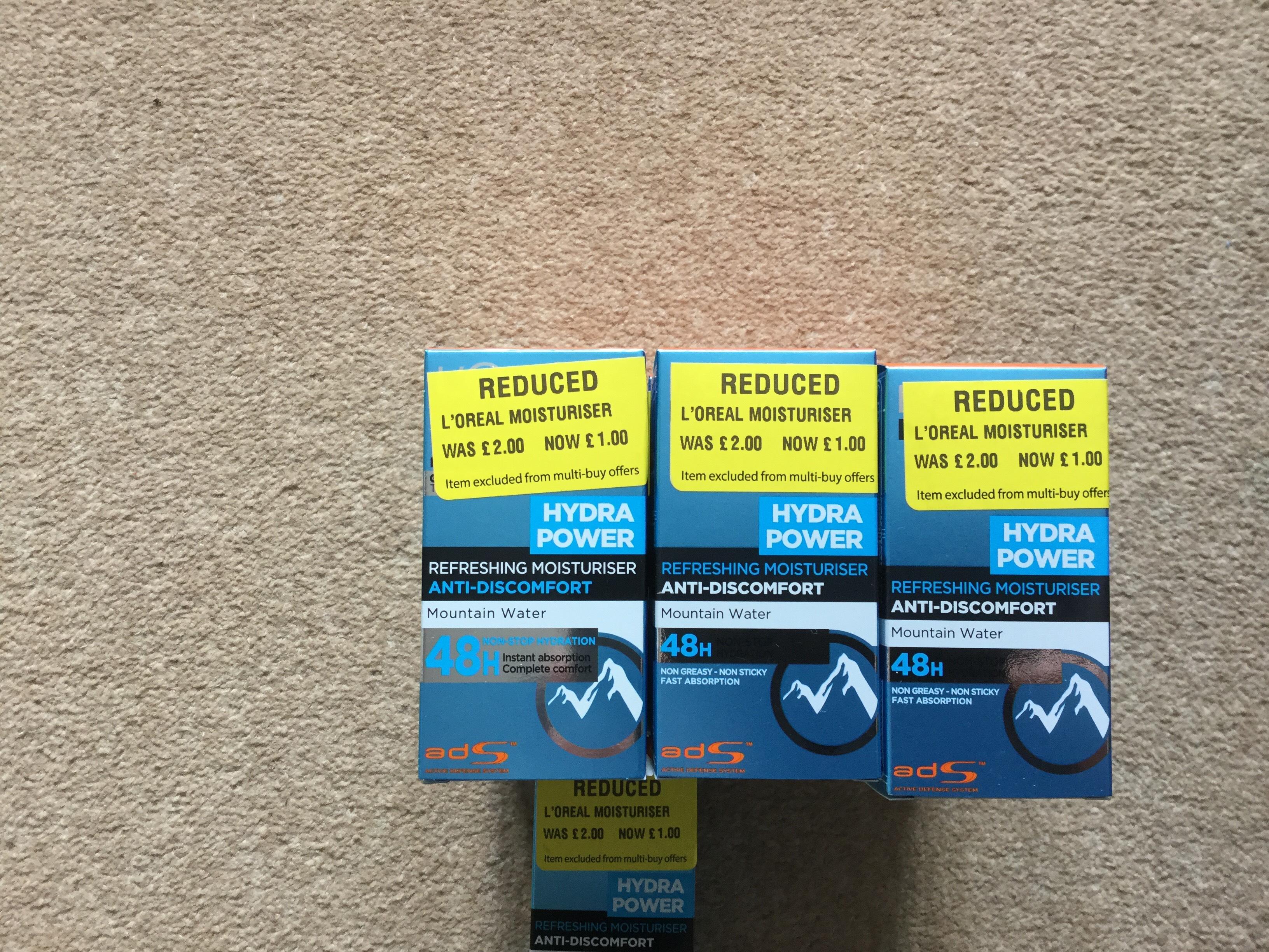 L'Oréal Hydro power moisturiser £1 Morrisons instore