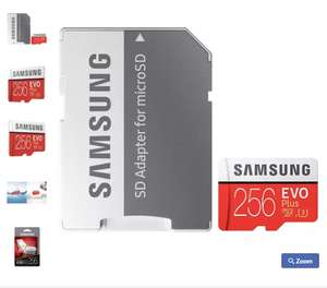 Samsung Evo+ 256GB Micro SDXC U3 Card + Adapter £75.49 Mymemory with code