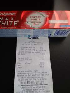 Colgate whitening toothpaste £2.50 instore at Burnley wilko