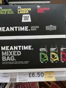 Meantime Ale 12 x330ml cans for £6.50 - in store Tesco