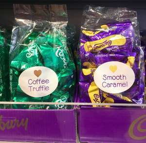 COFFEE TRUFFLE & HEROES CARAMEL BAGS BUY ONE GET ONE FREE £2.99 Cadbury outlet shop in Portsmouth