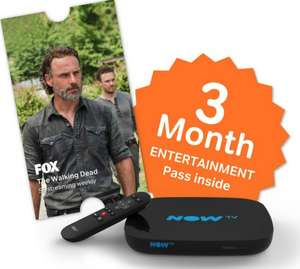 NowTV Smart box with 3 months entertainment pass + sky store voucher - Asda in store only - maybe store specific