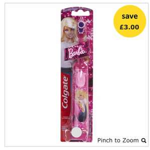 Colgate Toothbrush Barbie Extra Soft £3 @ Wilko