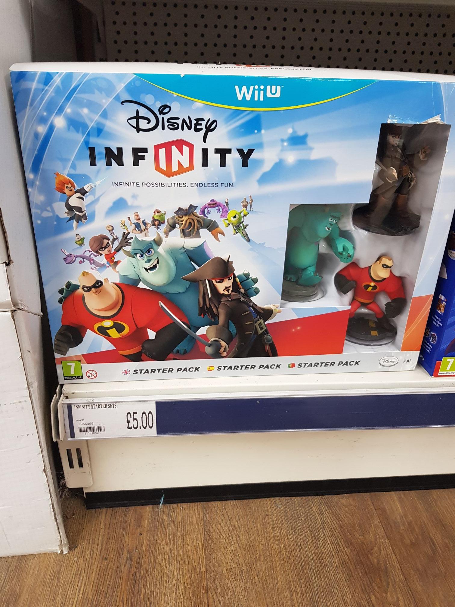 Disney infinity starter pack for Wii U £5 @ Poundworld Barnsley