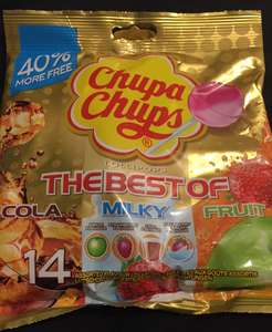 Chupa Chups lollipops 14 for £1 Regular size @ Poundworld