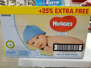 Huggies baby wipes 720 £5.74 - Costco Birmingham. Probably Nationwide