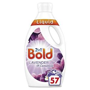 Bold 2-in-1 Washing Liquid with a Touch of Lenor Long Lasting Freshness, 57 Washes, 1.995 Litre, Lavender and Camomile £5.78 amazon pantry item.