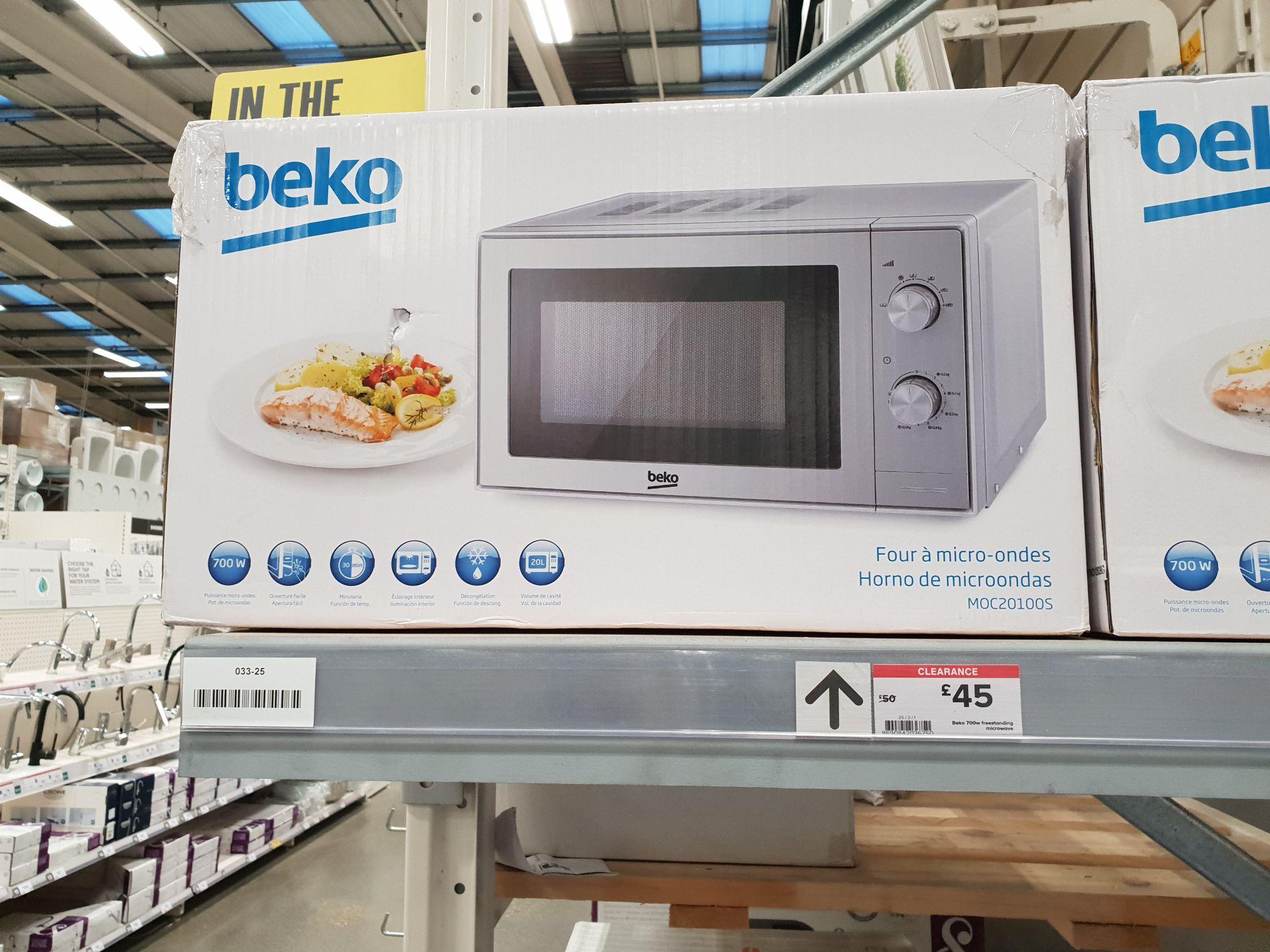 Beko 700w microwave £45 @ B&Q Lakeside