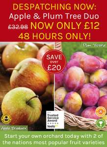 2 fruit trees for £12, delivery £4.95 @ Thompson & Morgan