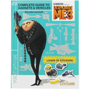 Despicable Me 3 - Complete Guide to Gadgets and Vehicles (Hardback Book with Stickers) only 50p with Free C&C @ The Works
