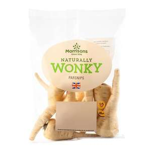 Wonky parsnips 500g now 28p @ Morrisons