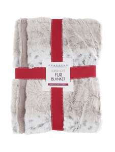 Furry Blanket £8.00 (was £16.00) @Peacocks - Free C+C