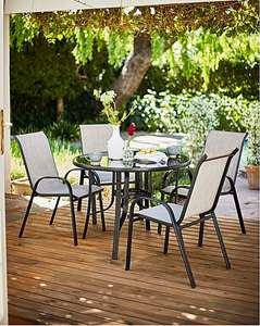 Wilmslow 4 Seat Stacking Dining Set reduced to £99 from £249 @ JD WIlliams