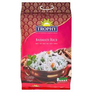 Trophy 10kg Basmati Long Grain Rice Was £18 now £8 (Works 80p Per Kilogram) instore @ Asda
