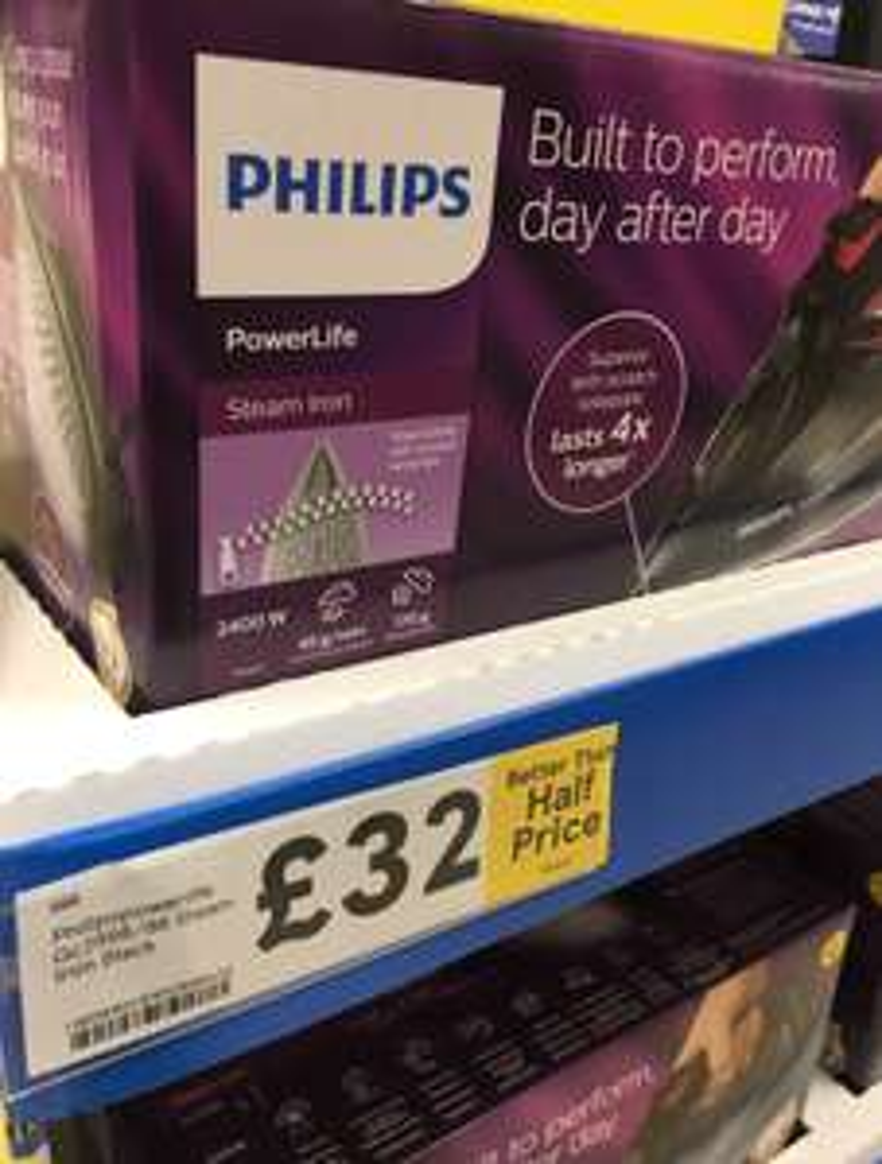 Philips PowerLife GC2998/86 Steam Iron £32 @ Tesco Leeds Extra