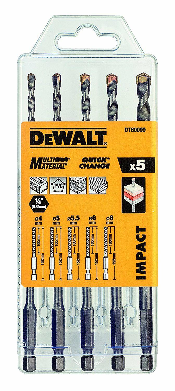 Dewalt multi-purpose drill bit, set of 5£4.99 (add on item minimum spend £20) @ Amazon