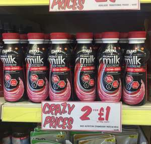 Maxi nutirition promax milk Extreme 500ml 2 for £1 @ Fultons 50g protein