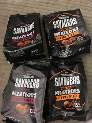 4 for £1 mattessons savagers piri piri or bbq Fulton  foods