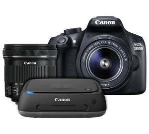 Canon 1300D DSLR - 18-55 & 10-18mm Lenses + connect station £399 Argos