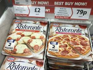Two Ristorante pizzas £2 In store at heron food