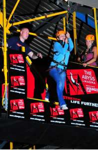 Adrenaline Triple Whammy Rotherham Indoor Zip wire, Abseil and parachuting (power fan) only £23.74 @ Buyagift