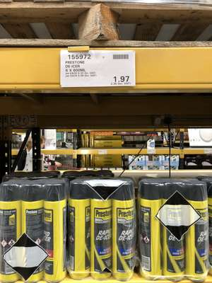 Prestone De-Icer 6x600ml £2.36 @ Costco Reading