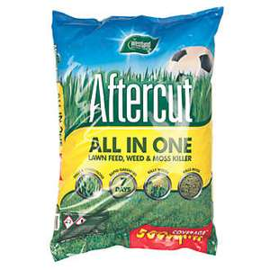 WESTLAND AFTERCUT LAWN FERTILISER WITH MOSS & WEED KILLER 500M² 17.5KG £16.99 @ Screwfix