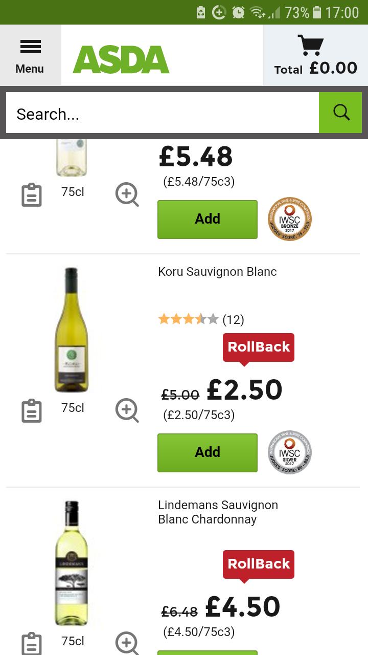 Scotland only..Koru New Zealand wine half price @ asda - £2.50