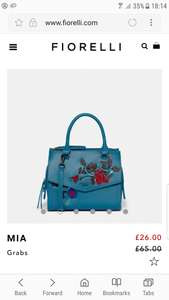 Fiorelli Mia Teal colour bag £24.75 delivered (was £65) Fiorelli online