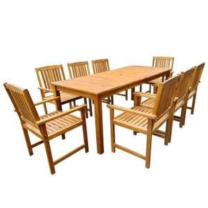 Outdoor Dining Set 9 Pieces - £335.99 best price I can find for this size! - VidaXL