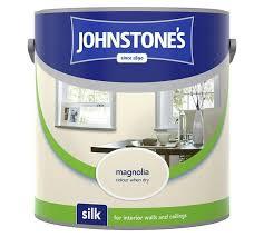 Johnstones Magnolia Silk, Matt Emulsion Paint & White Silk 5L - £8 @ Asda