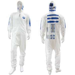 Star Wars White Adult Mens R2D2 Jumpsuit / Onesie £13.99 delivered @ InternetGiftStore