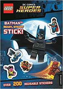 Lego DC Comics Super Heroes - Batman Ready Steady Stick (Paperback Book with over 200 reusable stickers) £1.60 Free C&C @ The Works