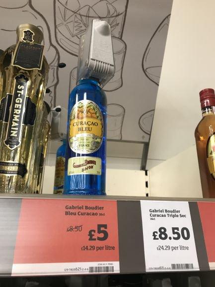 Blue Curacao liqueur - £5 instore @ Sainsbury's