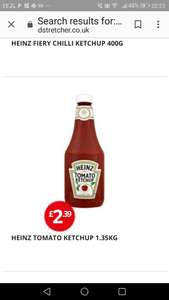 Heinz very large ketchup bottle, 1.35kg for £2.39 at Poundstretcher.