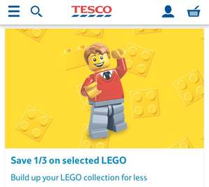 1/3 OFF Selected Lego @ Tesco Direct