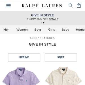 30% off from the OFFICIAL Ralph Lauren store