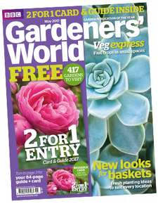 Free annual 2 for 1 gardens pass with £4.99 BBC Gardeners' World magazine out 24 April