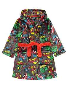 low stock *Marvel comics Superhero hooded dressing gown age 6-7 now  £7 @ Asda