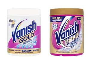 Vanish White Gold or Vanish Gold Oxi Stain Remover 940g for £3.50 @ Wilko (Free C&C)