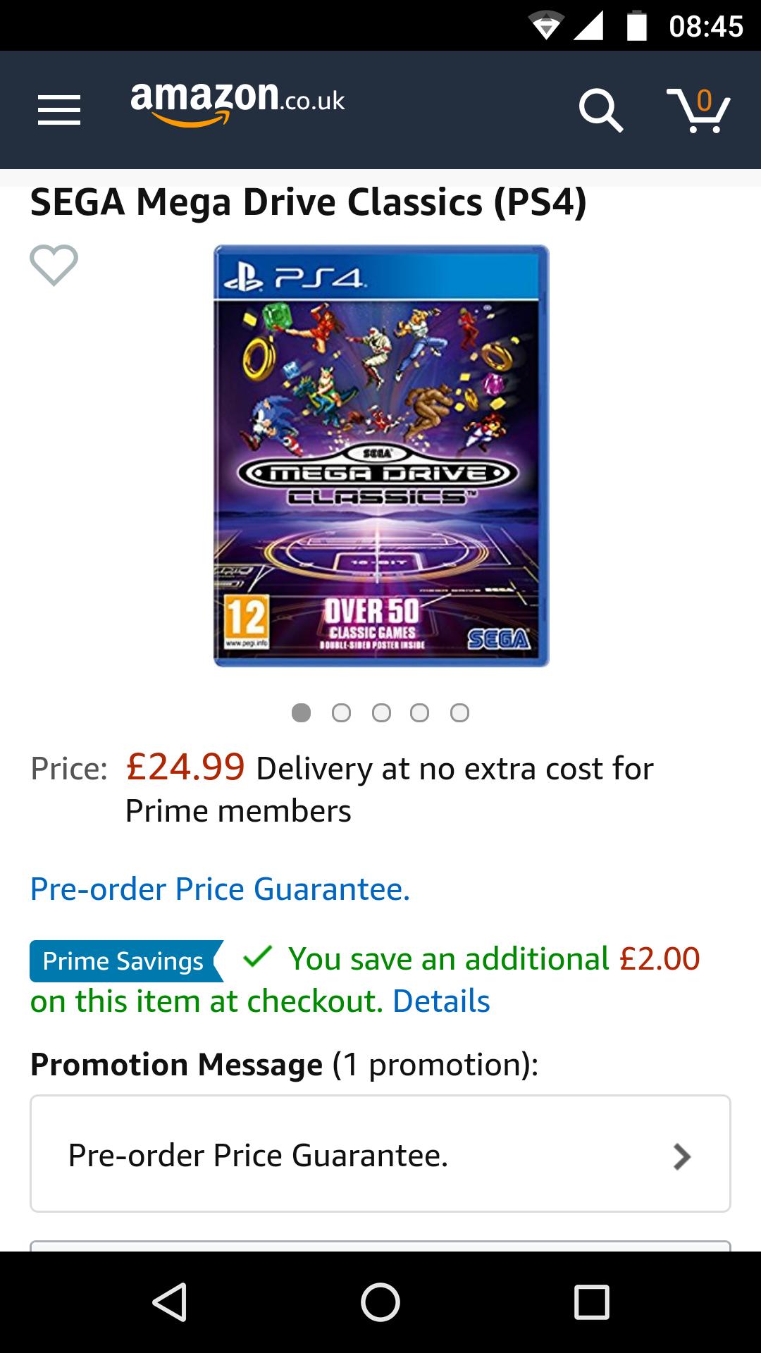 Sega Megadrive Classics PS4 & Xbox One game £22.99 with prime discount / £24.99 non-prime
