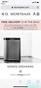 Secretsales; Sonos Discounts! - Sonos One £179