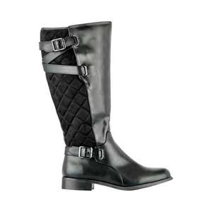 Evans black quilted size 4 rider boots £20 was £65 @ Debenhams