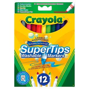 Crayola Washable Supertips 12 Pack 1/2 Price was £2.50 now £1.25 @ Tesco