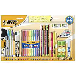 Bic 32 piece writing set now £10 was £18 @ Tesco direct