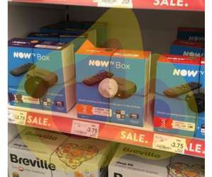 Nowtv kids/entertainment/movies boxes £3.75 instore @ Asda